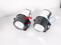 Car unversal bifocal fog lens, 64mm Outside diameter, Front bumper lights bifocal lens assembly, DOT EMARK Certification