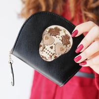Min Order $20 (mixed order) 2014 love fashion rivet skull pendant print women's long design small change coin case  (AI)