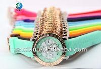 Free Shipping (1pcs/lot) Unisex Cameo Raised Nice Back Relojes De Moda Mulco Men Watch 13 Colors Calendar