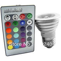 New LED Color Changing Light Bulb with Wireless Remote-Free Shipping