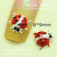 new arrival fashion 3D alloy beetle Cool  Luxury Nail Art Decoration Glitters decoration Dropshipping 9*9mm 20pcs/lot