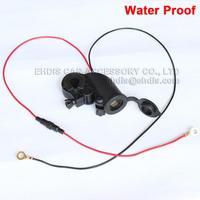 Motorcycle waterproof cigarette lighter socket power socket 12v line long 60cm waterproof cigarette lighter