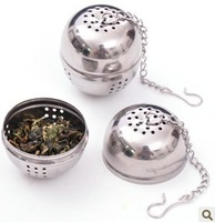 hot-selling! houselinen stainless steel seasoning ball soup ball hot pot spices ,50pcs/lot