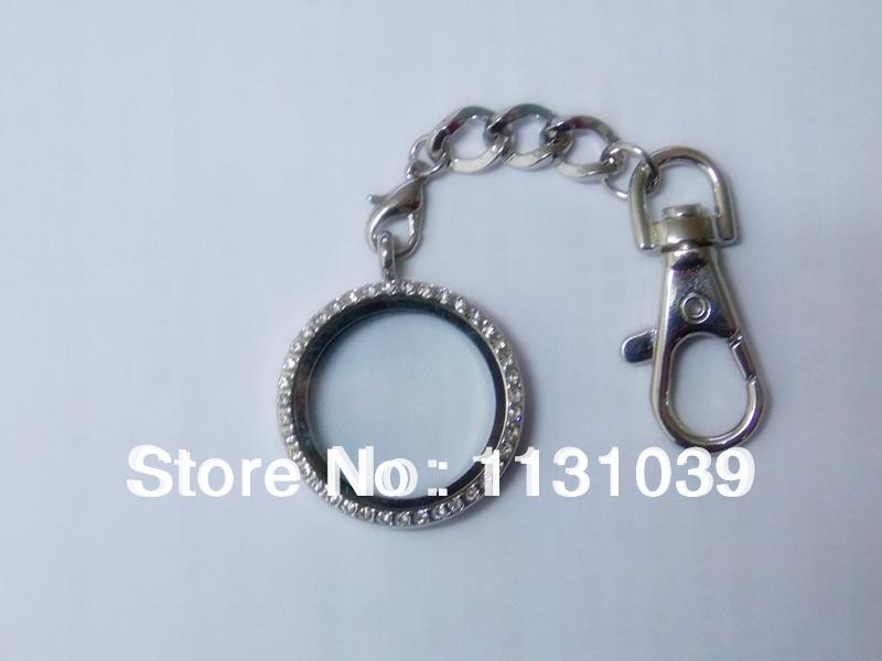 30 мм кристалл стекла круг медальон брелок