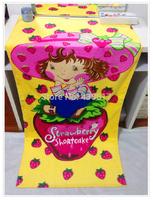 Free Shipping Strawberry Shortcake Towel for Kids Beach Bath Towels Bathroom Cartoon 100% Cotton Printed Towels 70*140