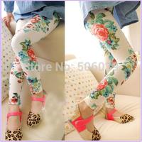Children's clothing female child girls 2014 spring 100% cotton legging all-match elastic ankle length trousers