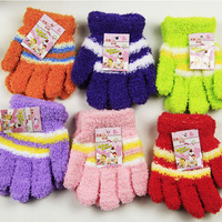 hot-selling! 100pairs/lot best quality child towel gloves towel cotton full finger gloves baby gloves for 2--12years old child