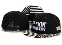 2014 Hot FUCKING' problems Snapback Caps with American Flag hats for men- women snap backs baseball fashion hip hop white black
