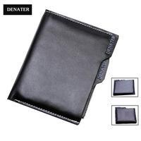 New DENATER brand men's short design genuine leather wallet&card purse male wallet portefeuille portafoglio bolsa