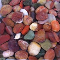 Natural scrub stone  multicolour cobble stone fish tank use