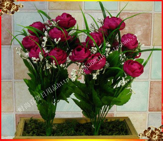 Деревенский искусственный цветок украшение цветок шелк
