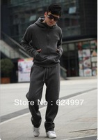 2014 new fashion models men suit jacket hooded sweater Korean version even sets of fingers plus cashmere cardigan sweater