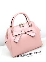 2014 Fashion Women's Messenger Bags Multicolor cowhide handbag vintage bow bag genuine leather ol cross-body bag women totes