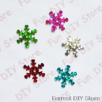 2013 New Arrvial 2000pcs/lot 14mm multicolor Plastic Christmas Snowflake for Christmas Tree /Window/Showcase Decoration