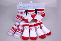 Free Shipping Fashion Unisex Child Cotton Socks 3pair/set 0-1 years1-2 years 2-3years