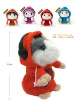DJ Talking Hamster and moving Hamster talking plush Toy,repeat any language funny and kawaii