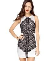 Women winter dress fashion famous brand Hubble-bubble sleeve black dresses 2104 new arrived sh002