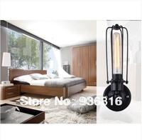 Free shipping + wall lamp +Retro wall lamp  + E27 Base  Edison wall lamp  light wrought iron rustic living room