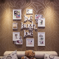 Fashion combination photos of wall photo wall photo frame combination zh-10l (size:1225mm x 1028mm total 10 pieces )