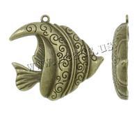 Free shipping!!!Zinc Alloy Animal Pendants,women fashion, Fish, antique bronze color plated, nickel, lead & cadmium free