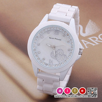 Ceramic watch women's watch ceramic ladies watch ceramic heart rhinestone table
