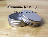 Wholesale 100Pcs 15ML 38*20mm Aluminum Cosmetic Box Cream Jar