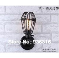 Free shipping Edison wall lamp light wrought iron rustic warehouse wall lamp +Retro wall lamp +E27 Lamp holder + Free shipping