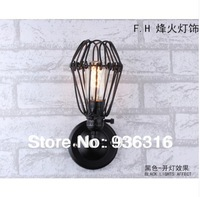 Free shipping Edison wall lamp light wrought iron rustic warehouse wall lamp +Retro wall lamp +E27 Lamp holder + Free shipping