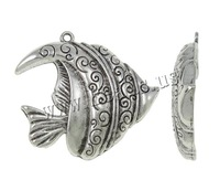 Free shipping!!!Zinc Alloy Animal Pendants,women fashion, Fish, antique silver color plated, nickel, lead & cadmium free