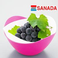 Sanada flower-shaped fruit plate twinset water plastic fruit bowl r227(The minimum order amount $10)