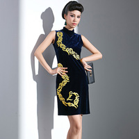 Vintage royal 0315 one-piece dress evening dress cheongsam 2014 formal dress dinner party costume