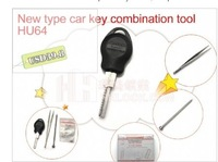 Free Shipping car key restructuring tool HU64 key mold with light New for Benz key combination tool