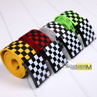 2014 men's strap black and white plaid canvas belt casual hip-hop