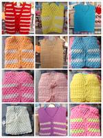 Handmade sweater knitted baby male girl child yarn vest cardigan