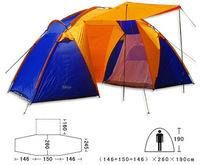 4-6 double layer outdoor camping tent many people tent