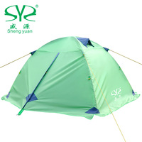 Shengyuan outdoor double layer rain tents aluminum tent camping tent winter 2.5kg