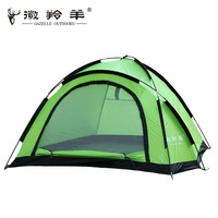 Camping outdoor tent double plus size the broadened single tier water-resistant