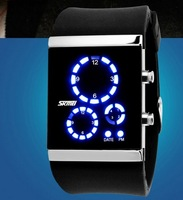 Watch fashion electronic watch led watch lovers table vintage table jelly table
