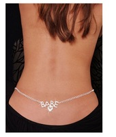 Fashion rhinestone pattern baby belly chain