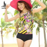 Free shipping   swimwear female fancy sexy small split boxer swimsuit 88046