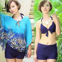 Free shipping  Fashion piece set split swimwear female steel small push up swimsuit hot springs 88062
