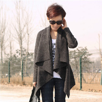 2014 New Designer Fall/Winter Fashion Culture Quality Loose Wool Shawl Cardigan Jackets Female plus size women's cashmere coat