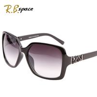 rb space polarized Fashion women's sun glasses star style fashion sunglasses vintage large anti-uv large frame sunglasses