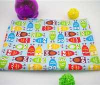 2014 new 5 meters light blue cartoon owl twill 100% cotton patchwork fabric cloth quilting textiles for sewing craft