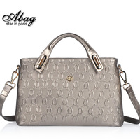 2014 New 100% Cow Genuine Leather Women's Luxury Shoulder Bags Tote Cross Bag Handbag Famous Brand From China