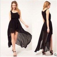 Low-high 6047 one-piece dress 2012 tulle dress full dress chiffon tank dress