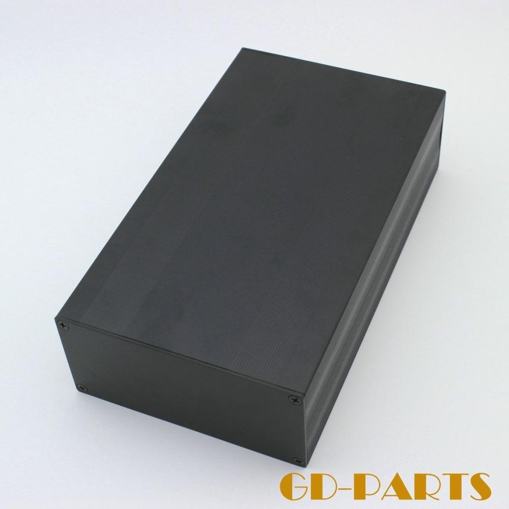 Free Shipping 1pc 245*145*70mm Black Aluminum Audio DIY tube Power Amplifier Chassis Enclosure(China (Mainland))