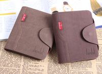High quality Cross&Vertical-section short styles men hasp genuine/Cowhide/Cowskin leather  wallet/purse male card holder/clutch