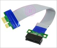 PCIe PCI-express 36pin 1x-1x FFC Flexible Ribbon PCI-E x1 extender riser cable 5pcs/lot