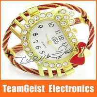 Fashion Hello kitty Bracelet Style Lady's steel Wrist Watch, Jewelry Watch Diamond Band Quartz Wrist gift Watch Free Shipping